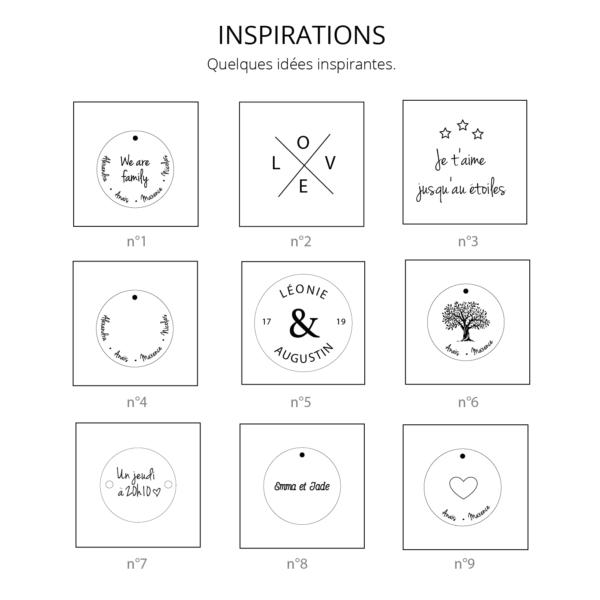 Inspirations gravure médaille, des idées pour que vous puissiez créer votre bijou. Faites le vôtre avec Make It Unique.