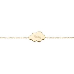 Bracelet nuage plaqué or personnalisé