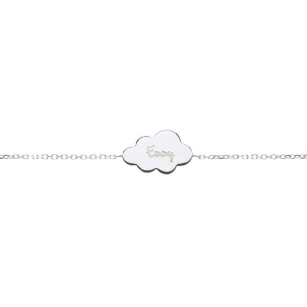 Bracelet nuage argent personnalisé pour enfant