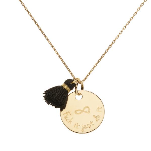 Médaille plaqué or à personnaliser avec pompon