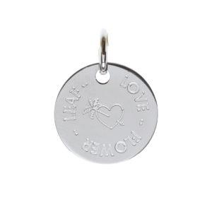 Médaille enfant ou femme argent à personnaliser