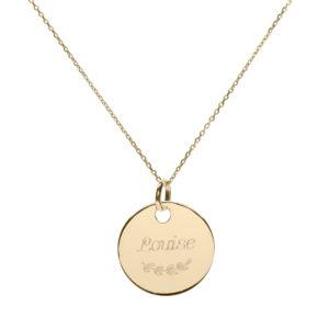 Médaille enfant ou femme plaqué or à personnaliser