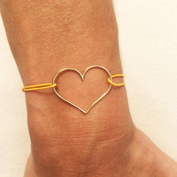 bracelet coeur simple plaqué or