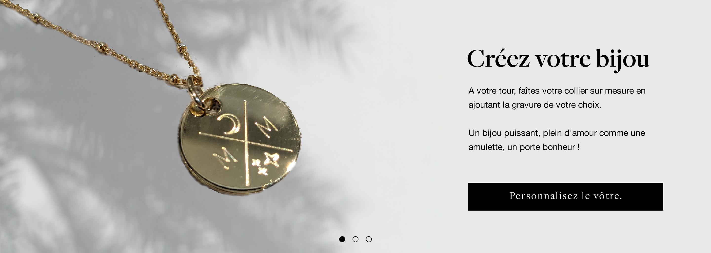 Slider MIU bijoux personnalisés en plaqué or et argent